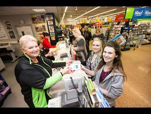 Asda\'s Longwell Green store during Black Friday 2013
